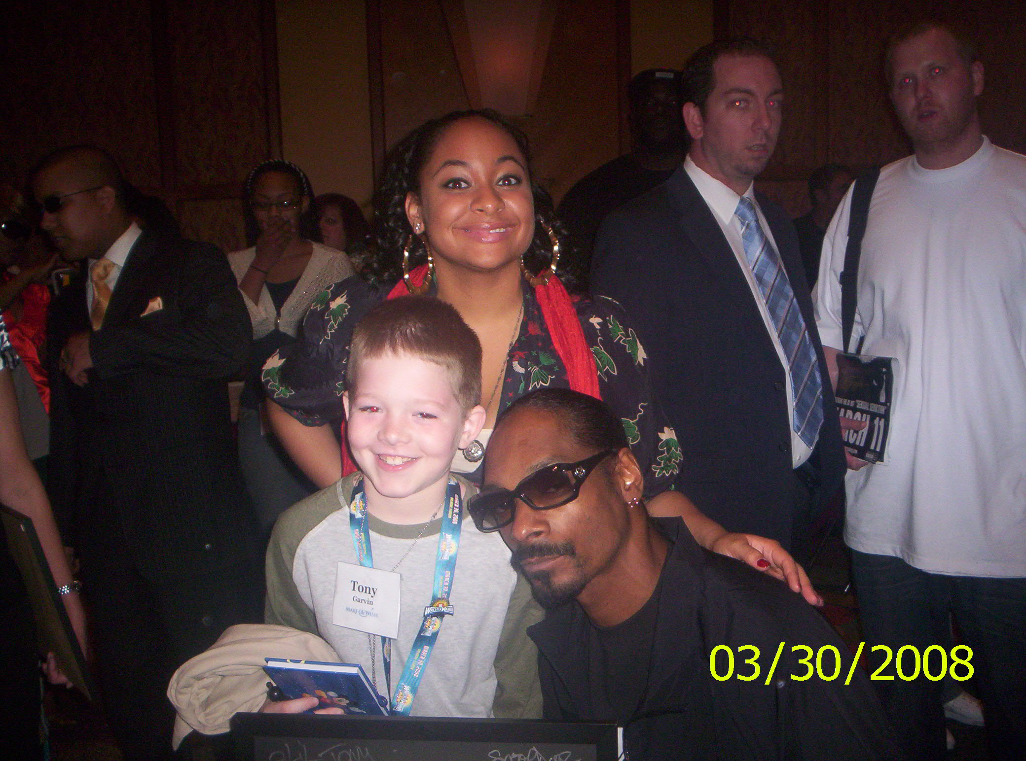 Tony with Raven Symone and Snoop Dogg Make A Wish WrestleMania XXIV