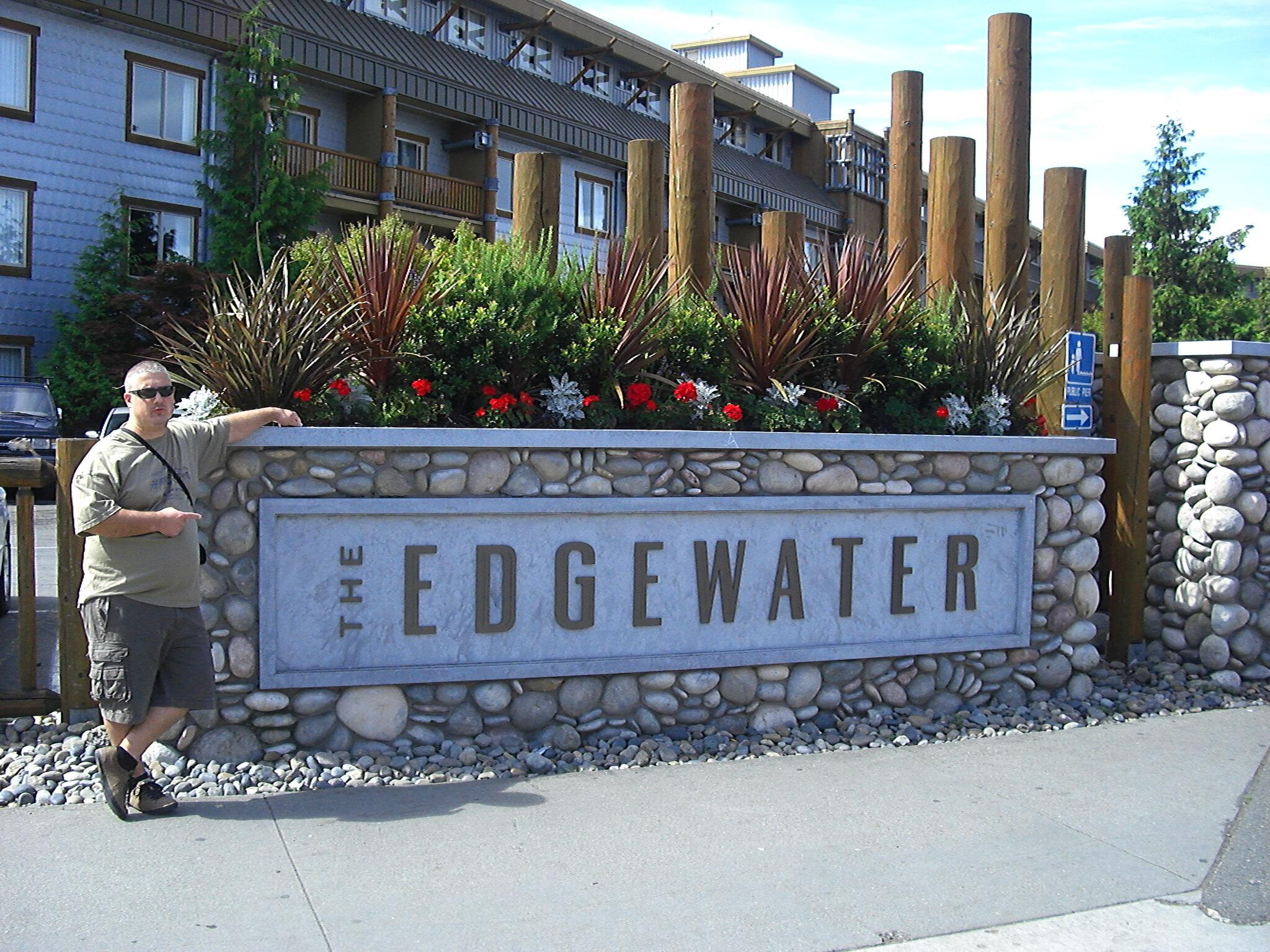 Outside the Edgewater Hotel 2008