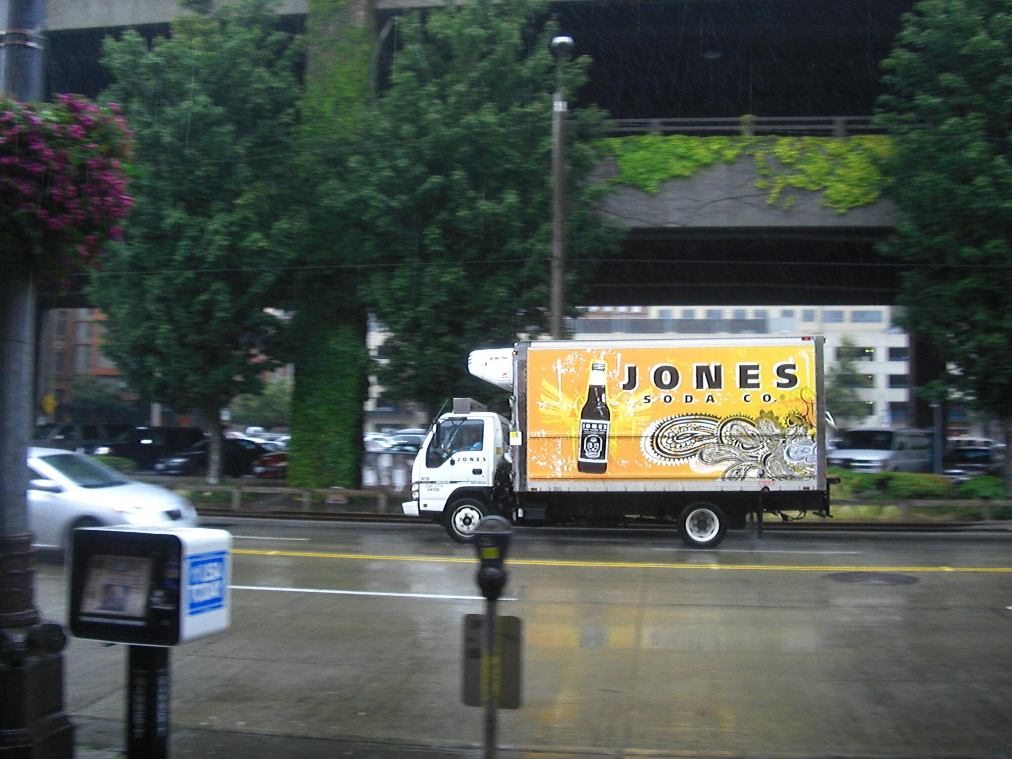 Jones Soda truck Alaskan Way Seattle
