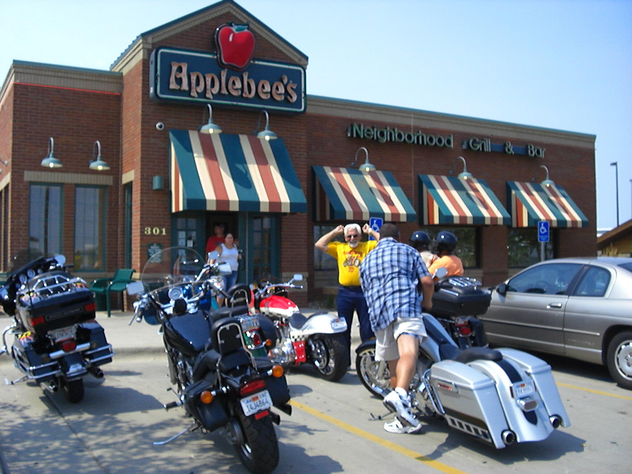 One of the Hamsters poses for me at Applebees Spearfish South Dakota Sturgis Rally