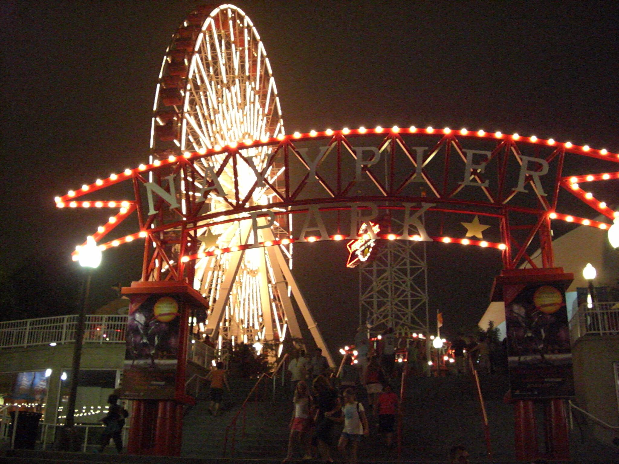 Navy Pier Park Ferris wheel at night