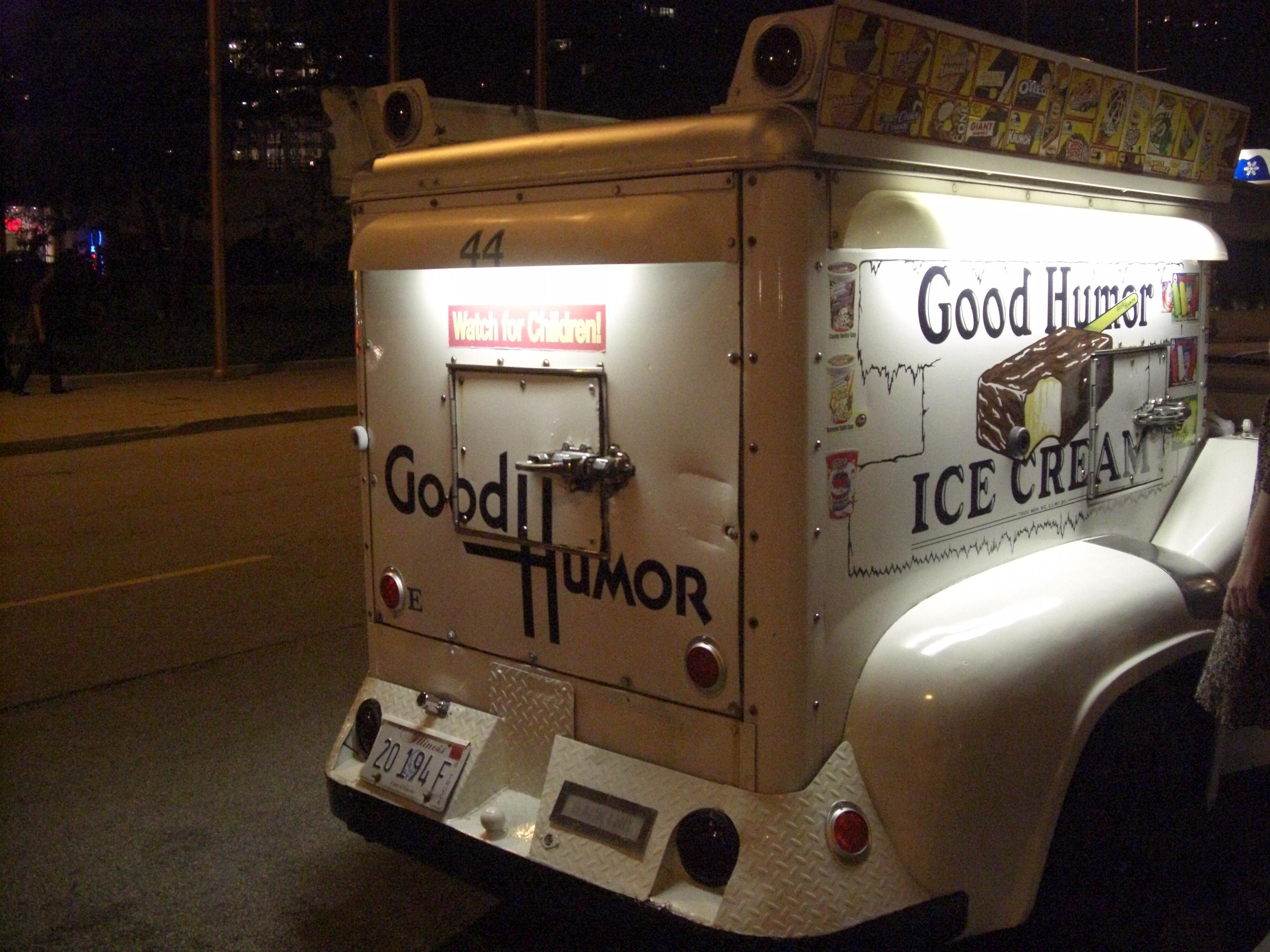 Good Humor Ice Cream truck in front of Sheraton Hotel Chicago