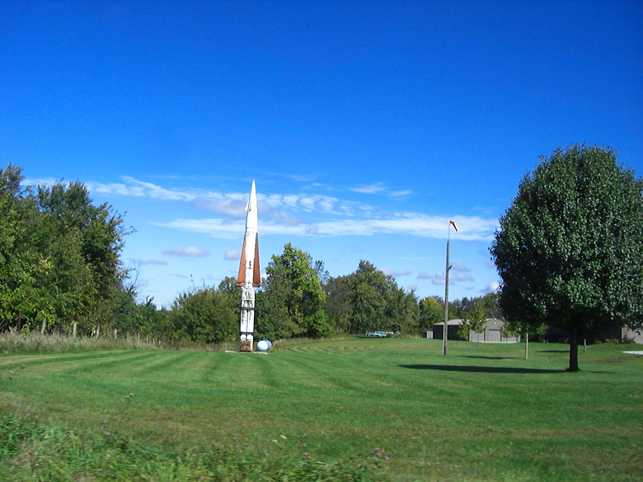 Rocket in yard Knox County Illinois