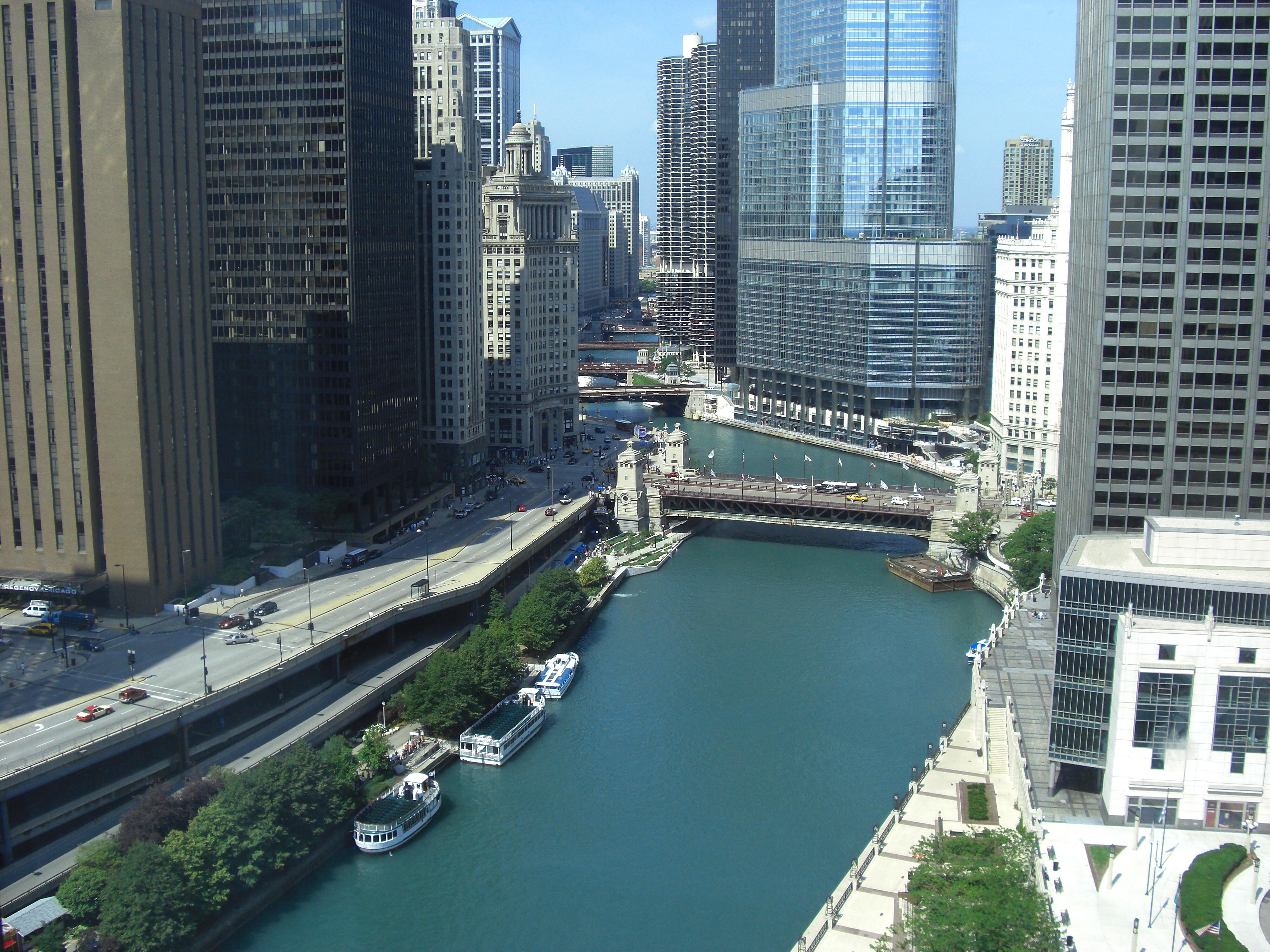 Our view from the 28th floor Sheraton Chicago