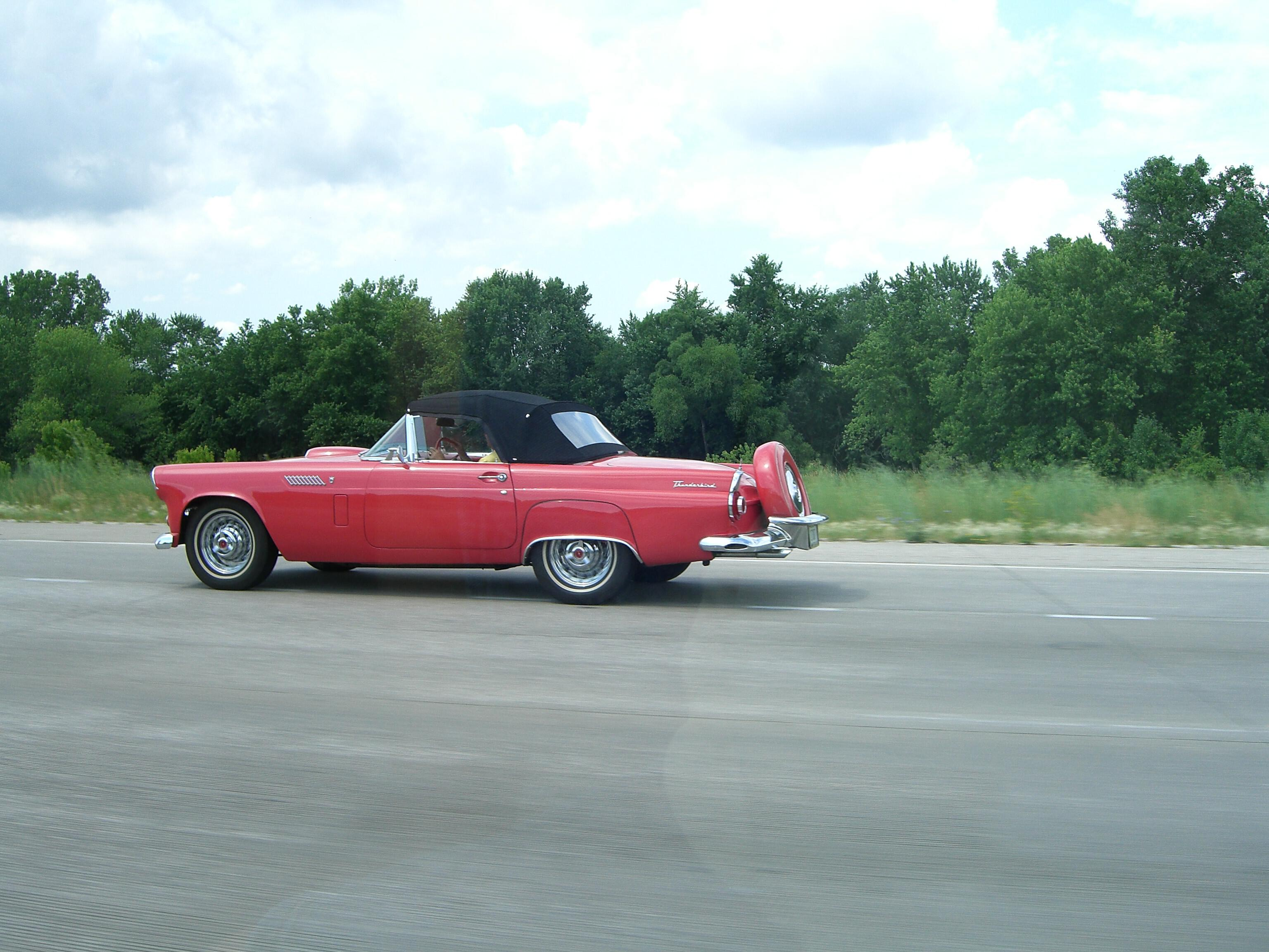 Classic Ford Thunderbird red