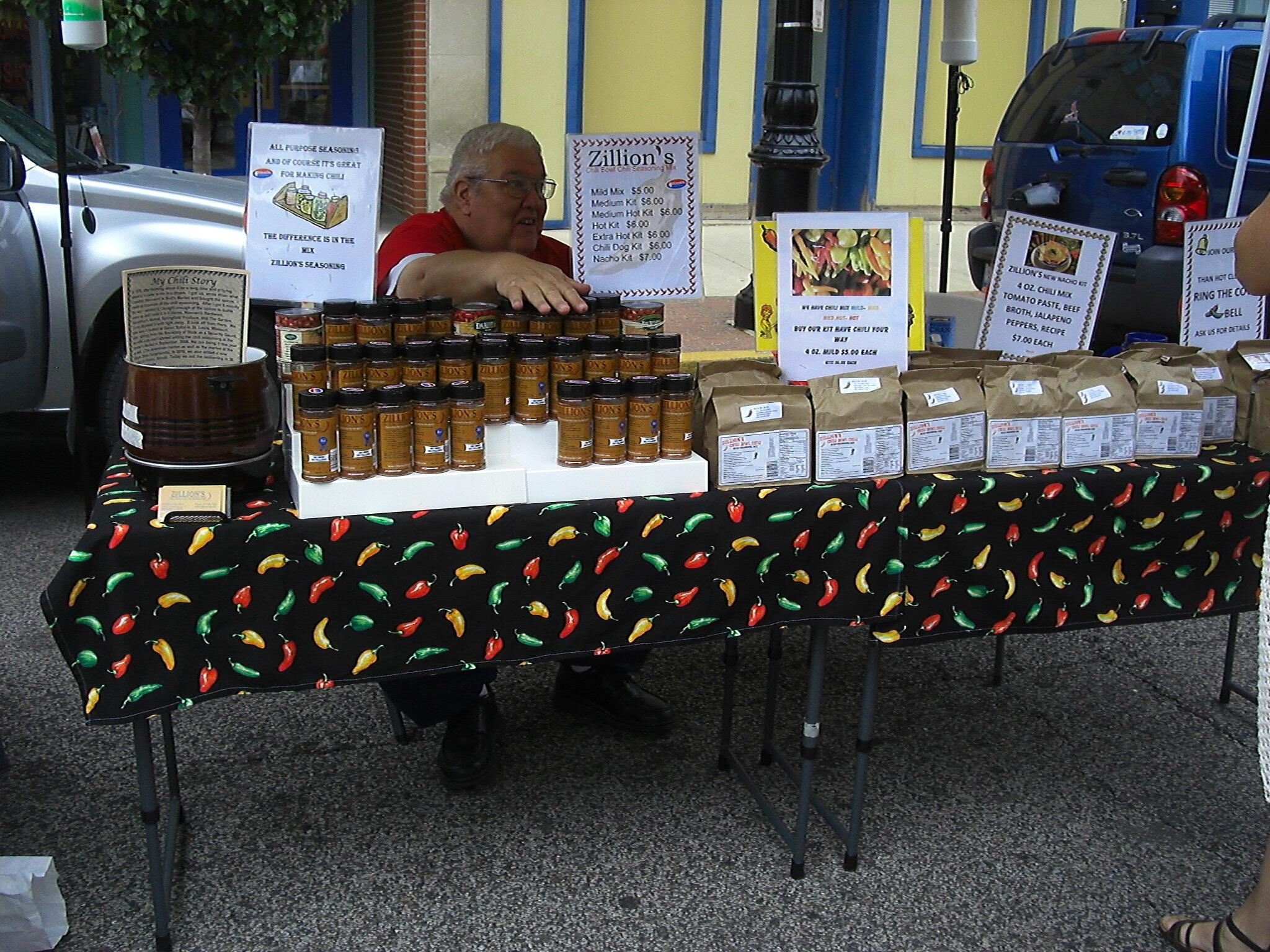 Zillion's Chili Seasoning Mix Old State Capitol Farmers Market