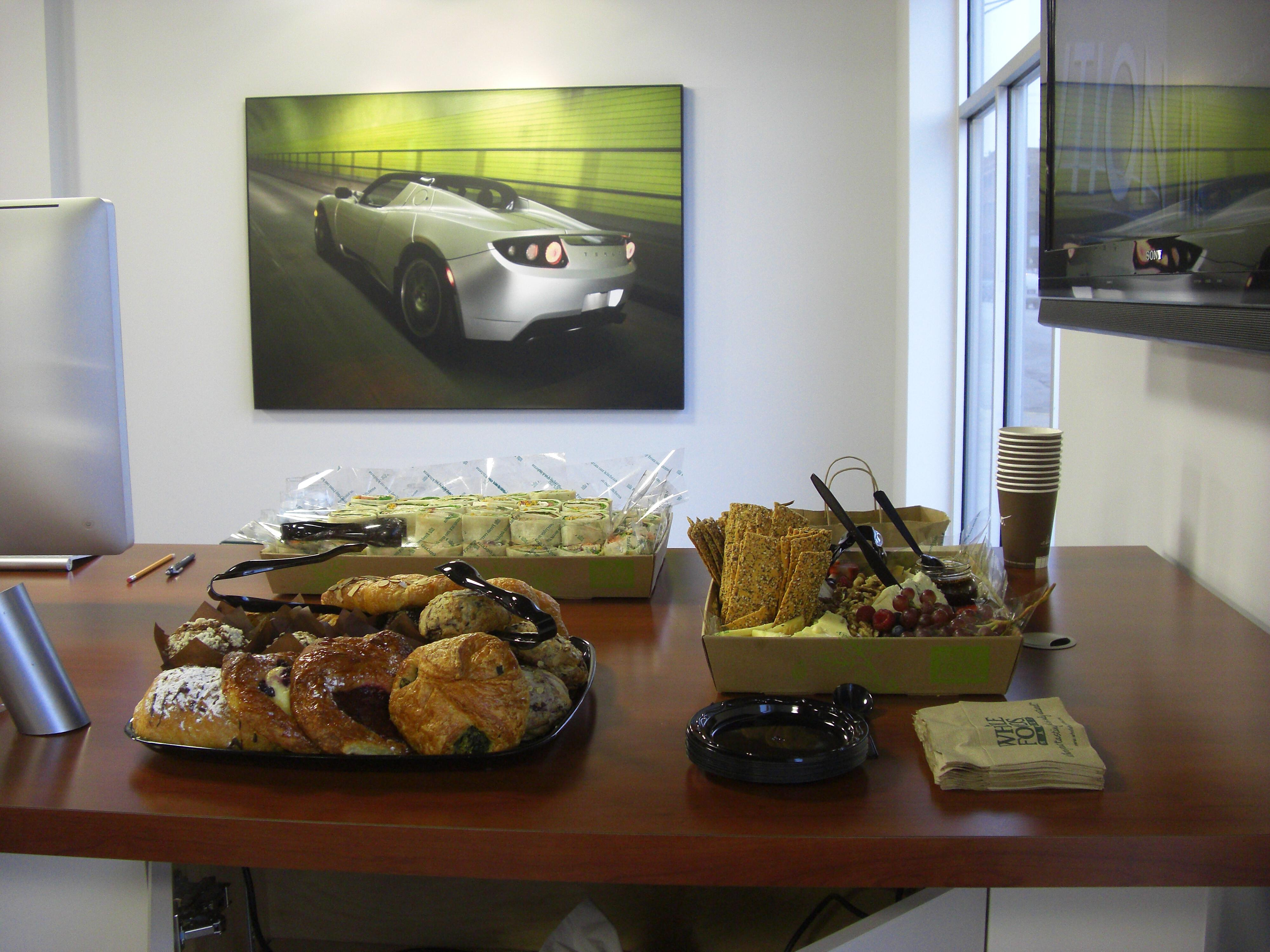 Tesla Motors Chicago open house food
