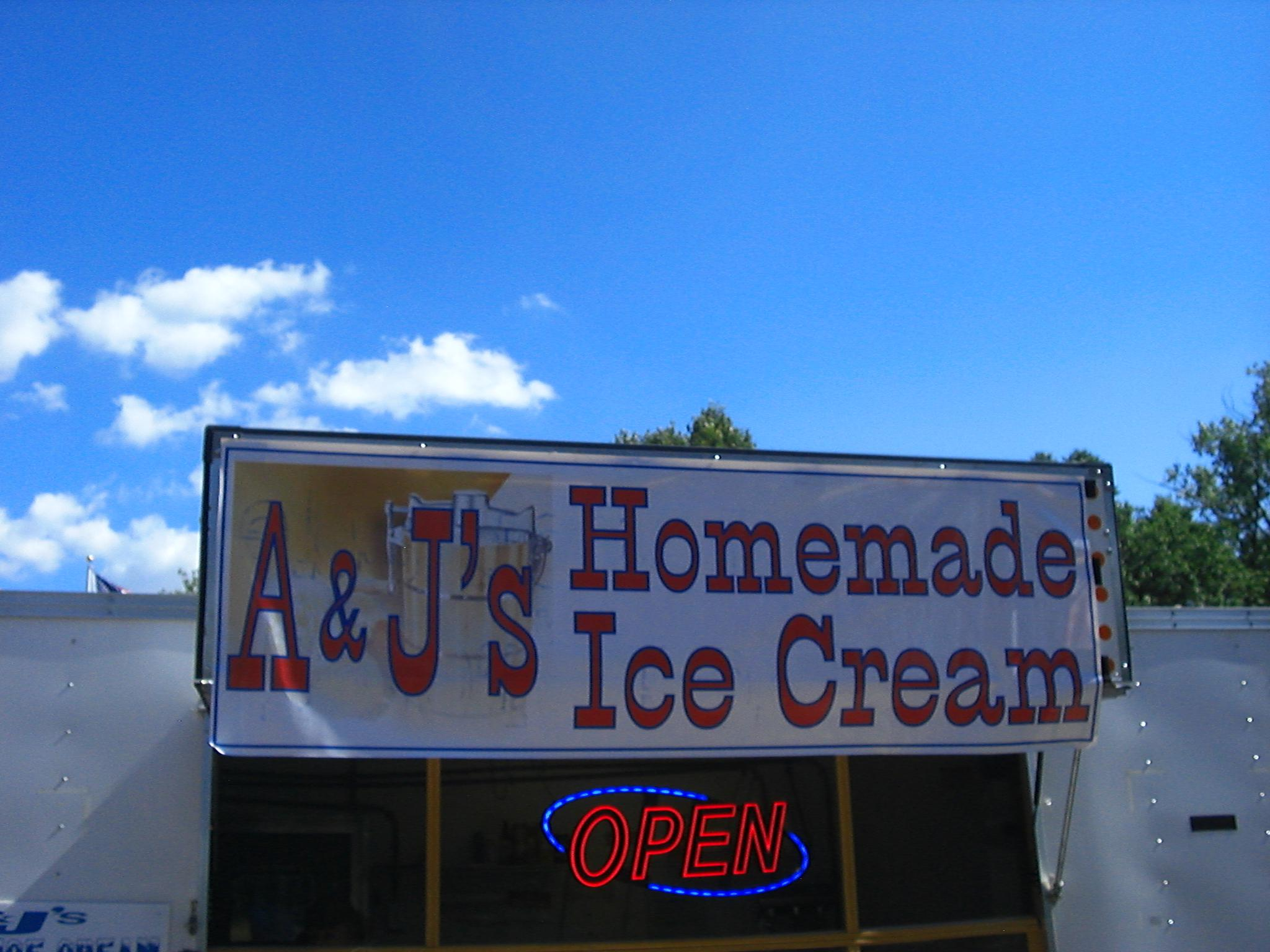 A & J's homemade ice cream Conservation World Illinois State Fair