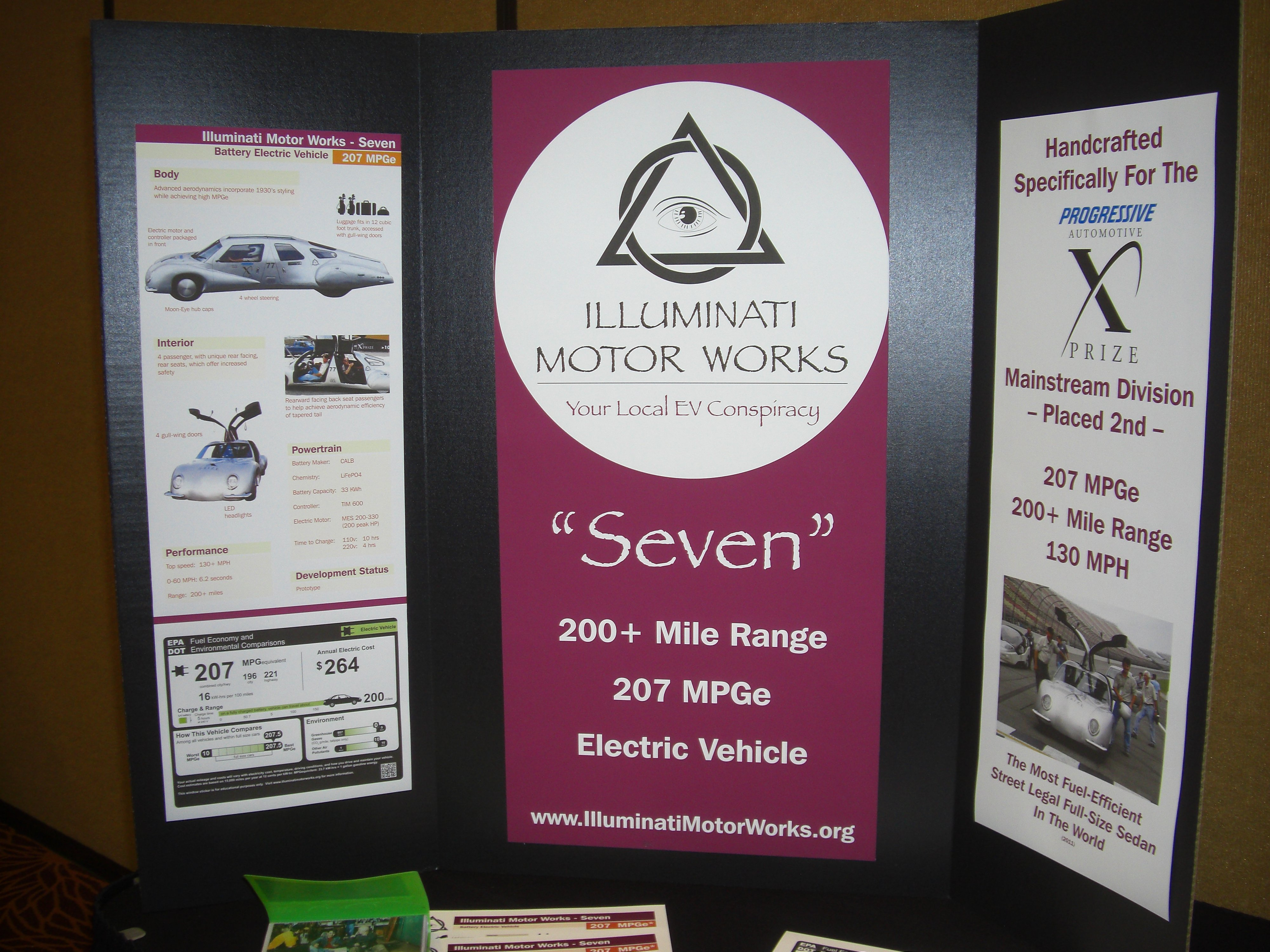 Illuminati Motor Works display EVening of EVs event Normal IL