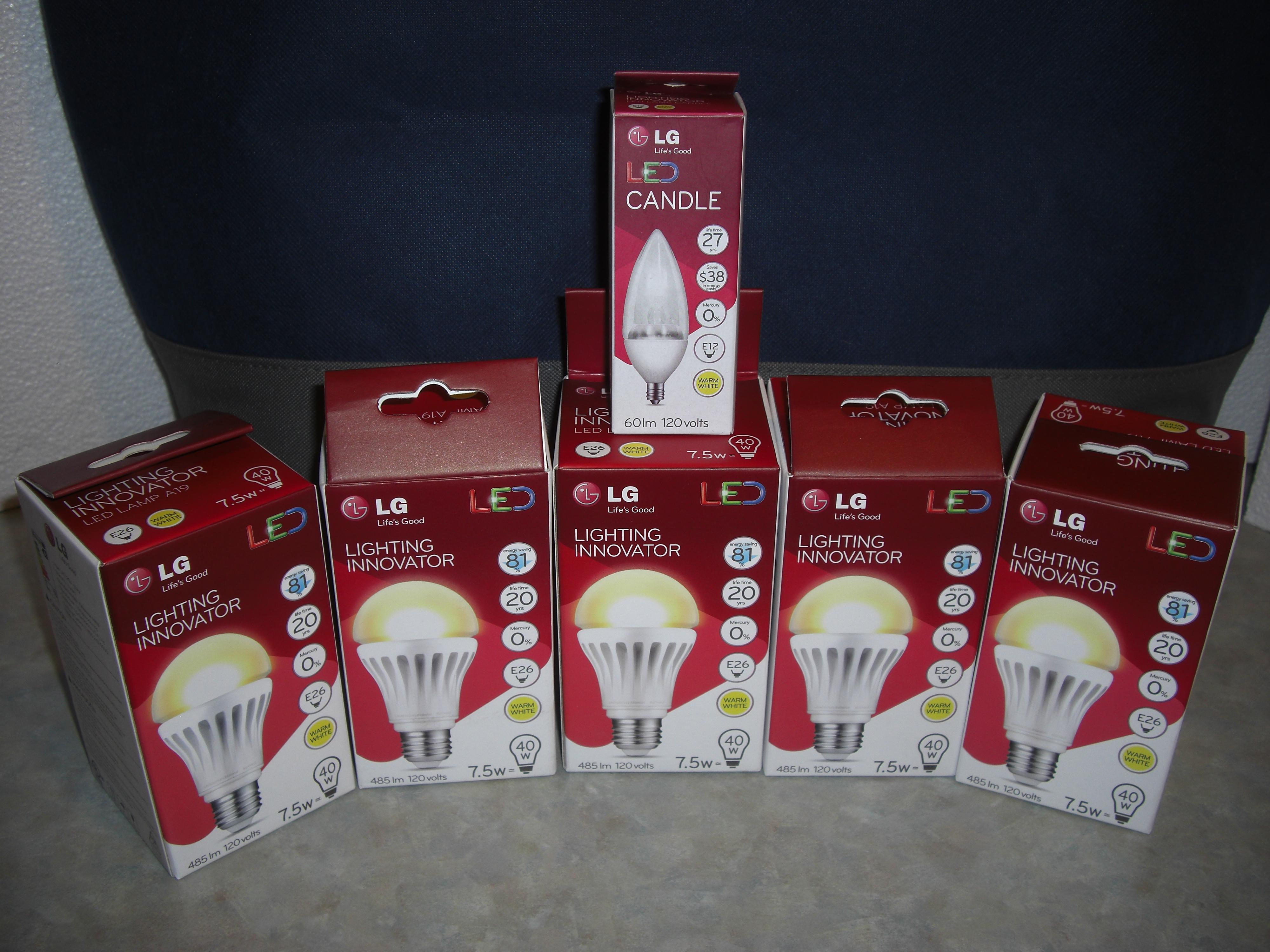 LG A19 7.5W LED Lightbulb 40W Equivalent