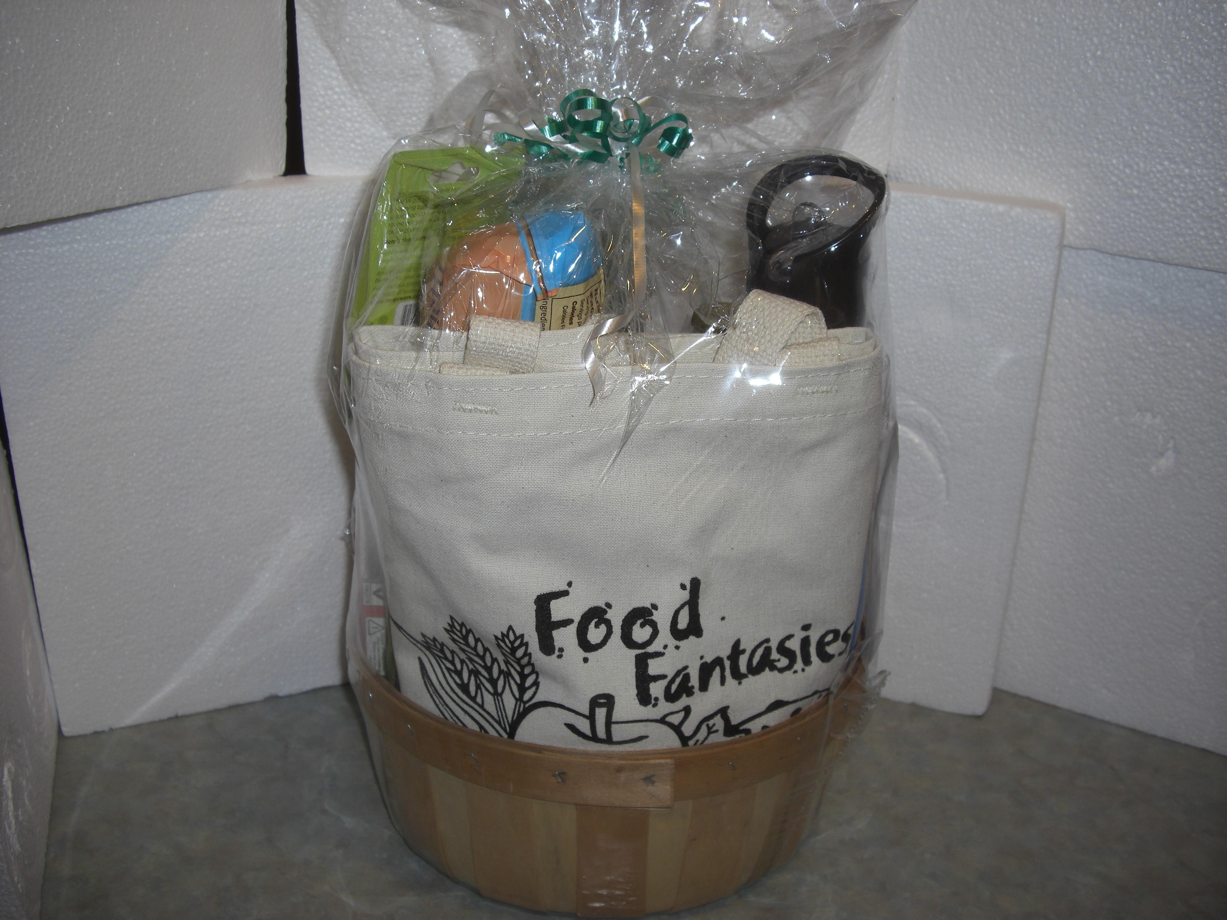 Food Fantasies gift bag Friends of the Sangamon Valley Spring Fundraiser