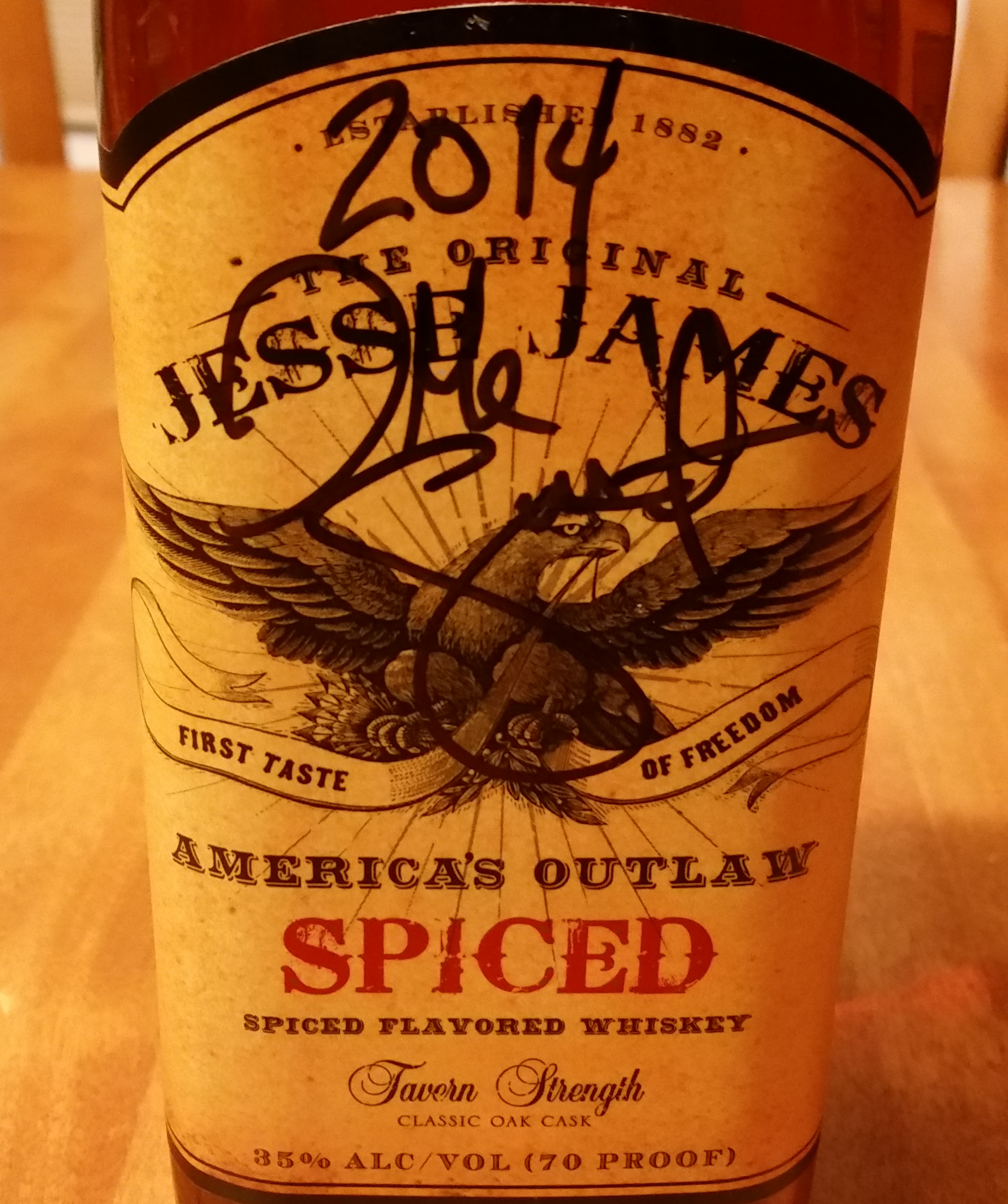 Jessie James Spiced Whiskey purchase at Hy-Vee Springfield Illinois