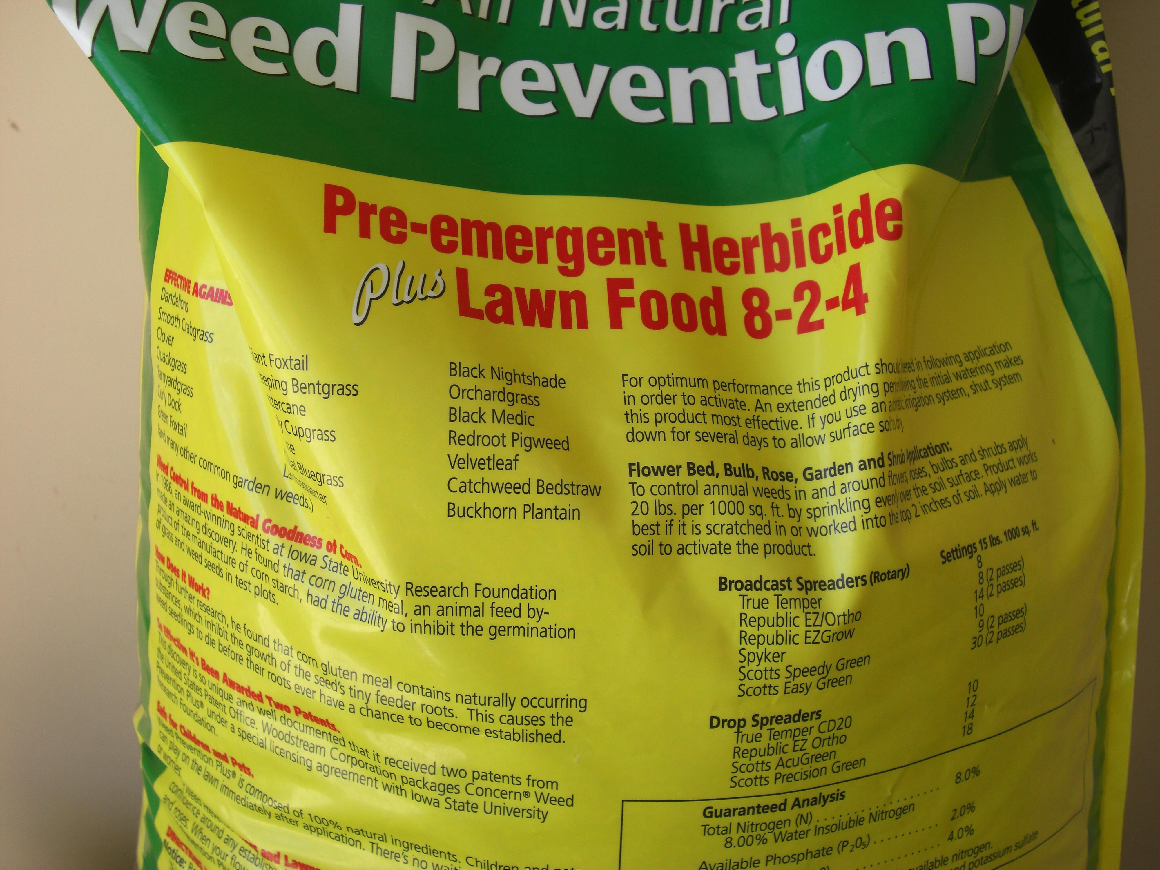 Concern Weed Prevention Plus 100 Natural Corn Gluten Pre